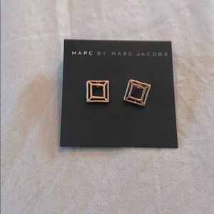 Marc Jacobs Rose Gold Studs Like New